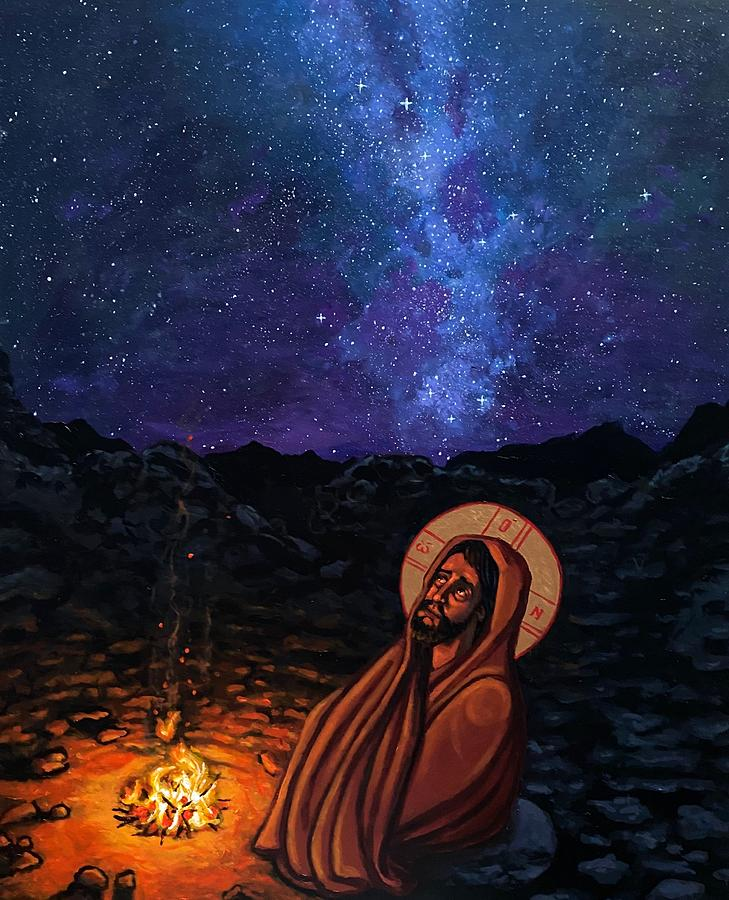 Christ in the Wilderness Painting by Kelly Latimore