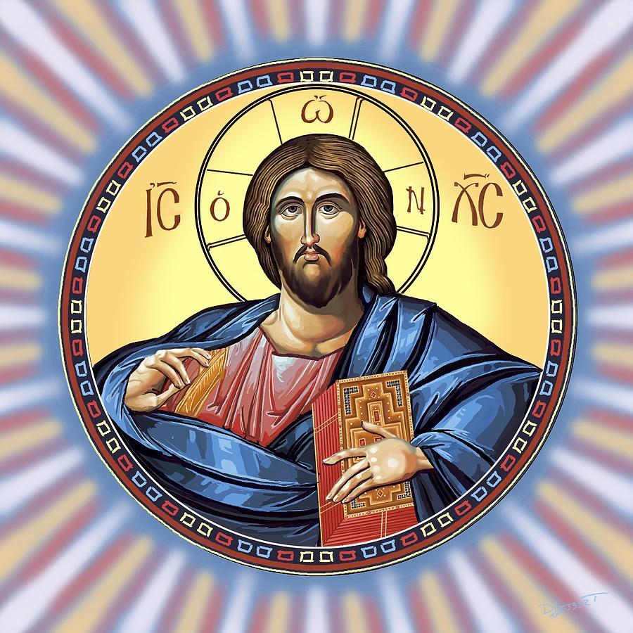 Christ Pantocrator Digital Art