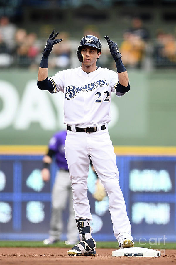 Christian Yelich Photograph by Stacy Revere