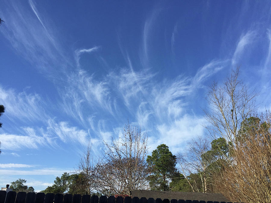 Angels Photograph - Christmas Angel Clouds Arrive by Matthew Seufer