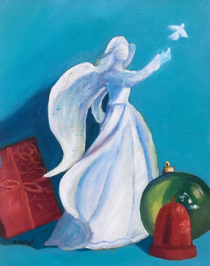 Christmas Angel Painting - Christmas Angel by Marita McVeigh