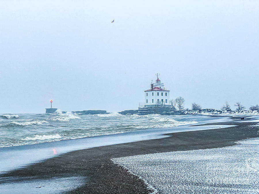 Christmas Eve Lighthouse Photograph