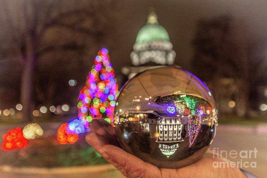 Christmas Globe by Amfmgirl Photography