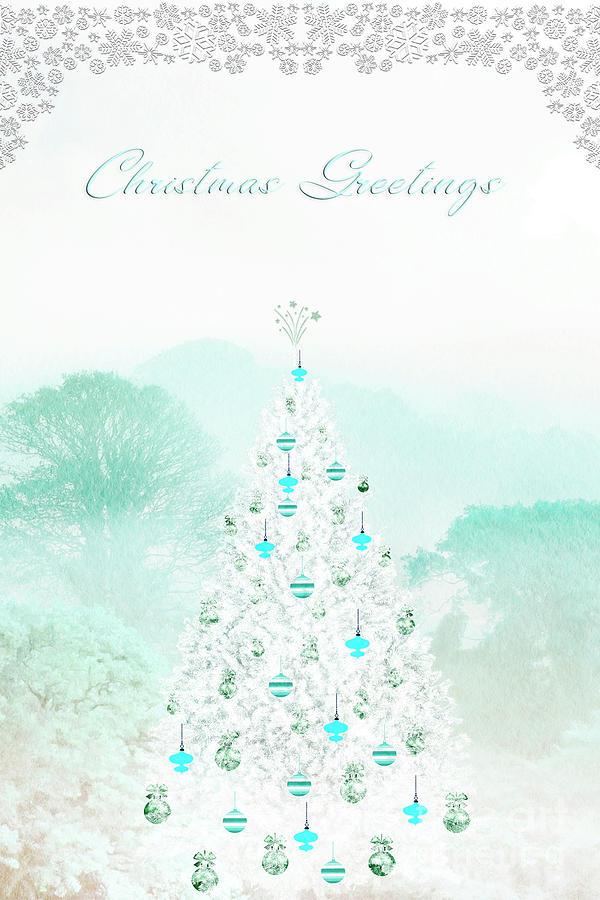 Christmas Greetings Blue Photograph