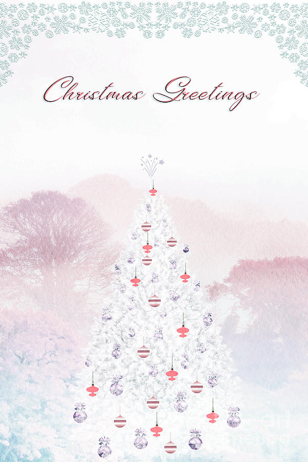 Christmas Greetings Pink Photograph