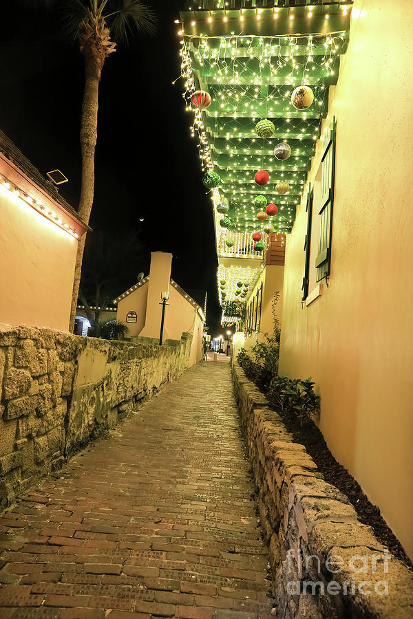 Florida Photograph - Christmas In St. Augustine, Florida by Felix Lai