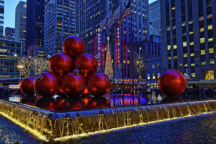 Christmas Photograph - Christmas In The City 5 - 6th Avenue Decorations by Allen Beatty