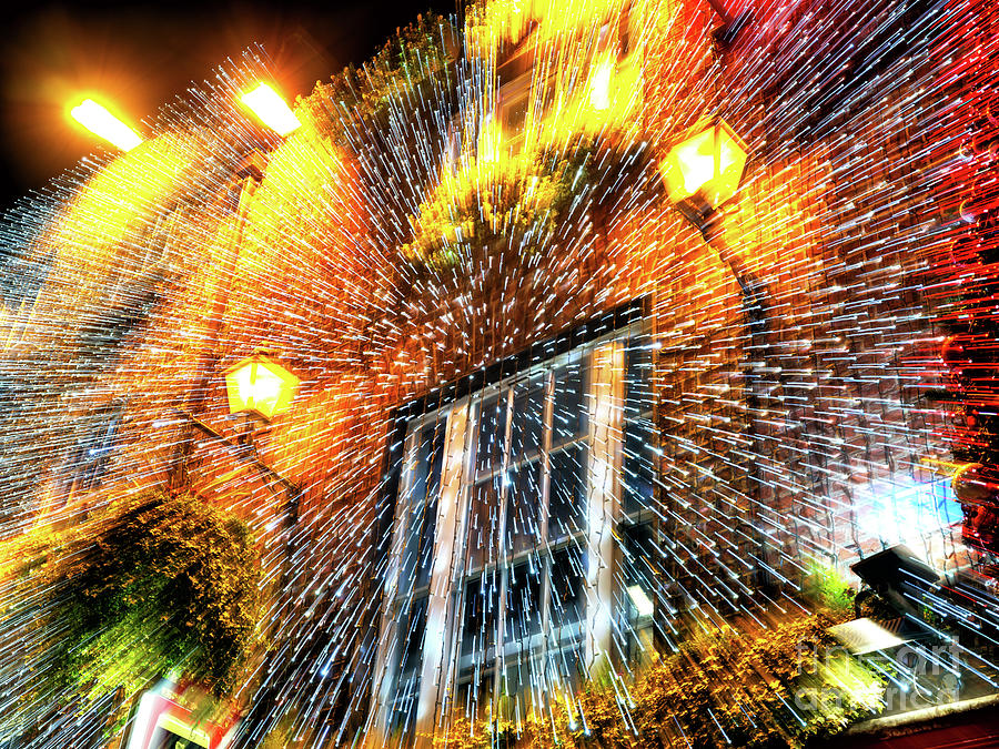Christmas Light Explosion at the Temple Bar Dublin by John Rizzuto