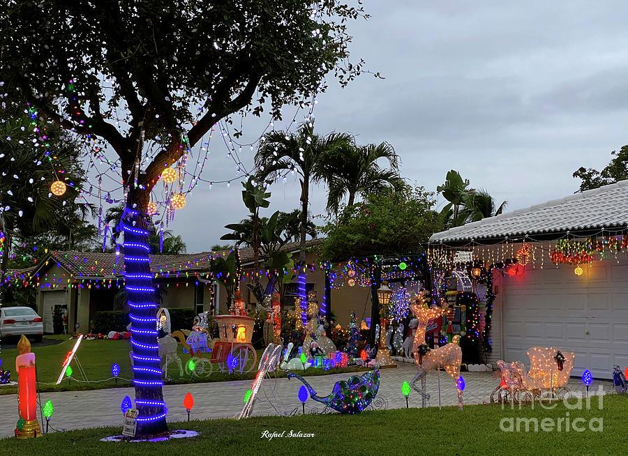 Christmas Lighting Around The Holidays Photograph