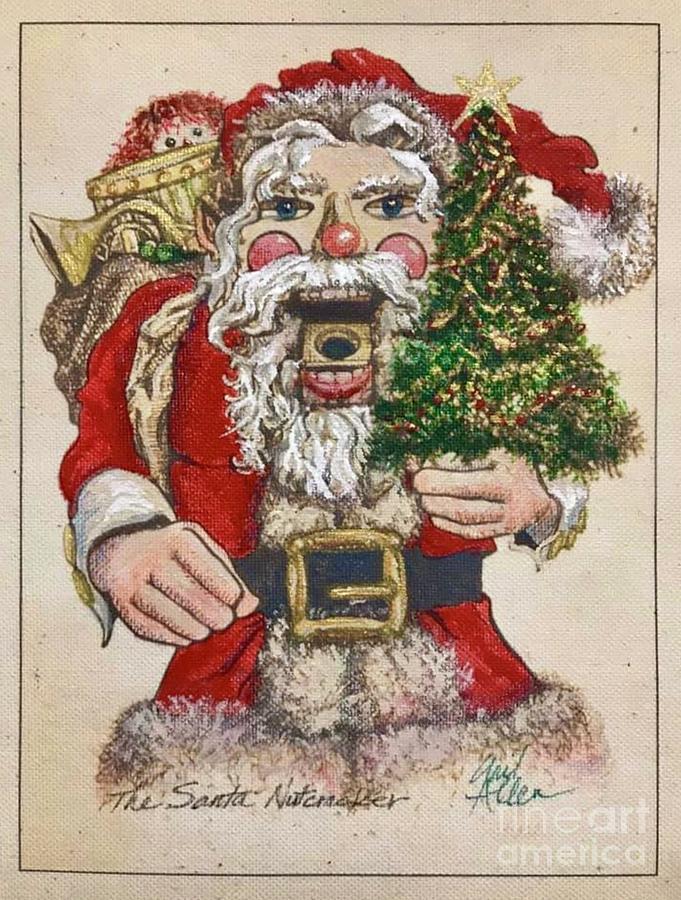 Christmas Red Santa Nutcracker #3 by Gail Allen