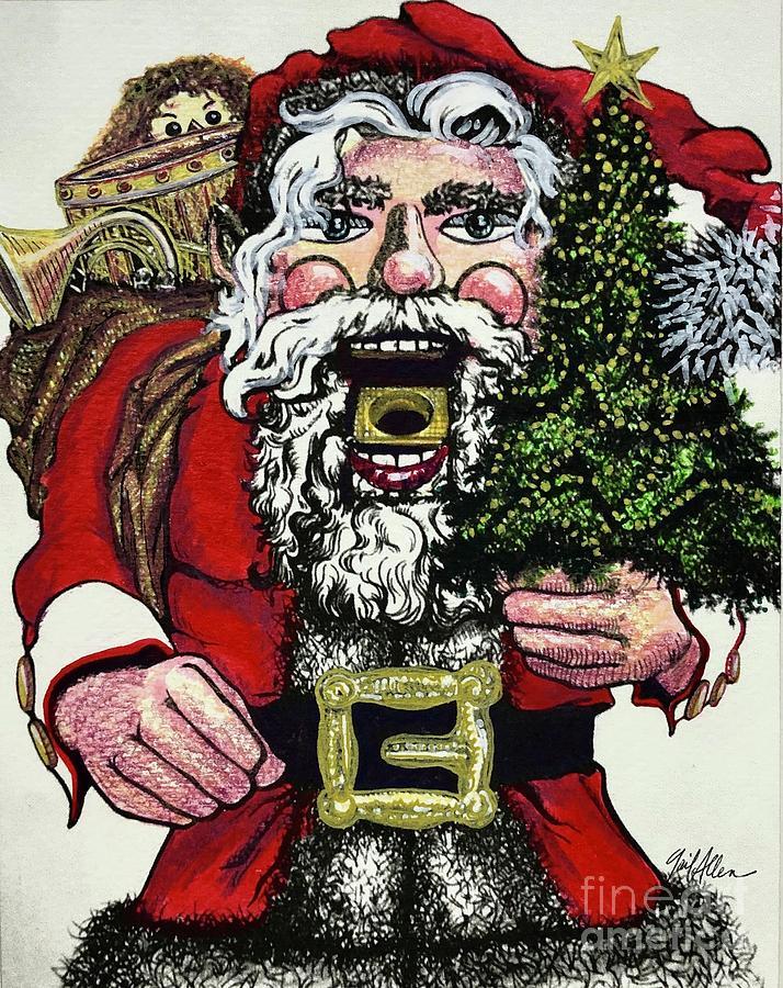 Christmas Santa Nutcracker 2 by Gail Allen