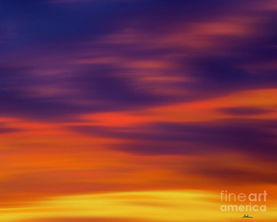 Sunrise Painting - Christmas Sunset 2020 by Jack Bunds