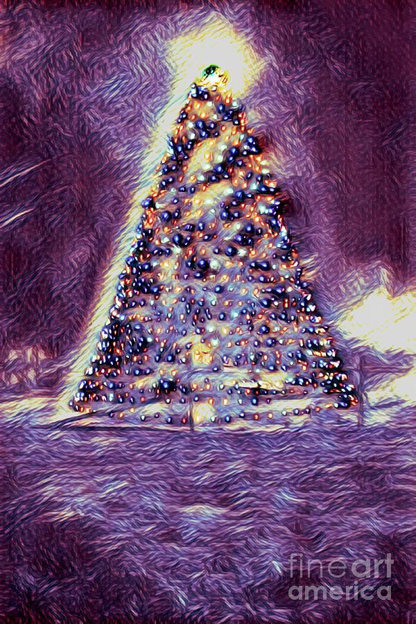 Christmas Tree In A Dream by Karen Silvestri