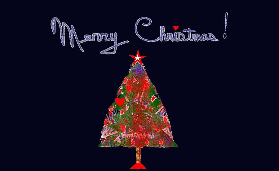 Christmas Digital Art - Christmas Tree with Heart by Don Robbins