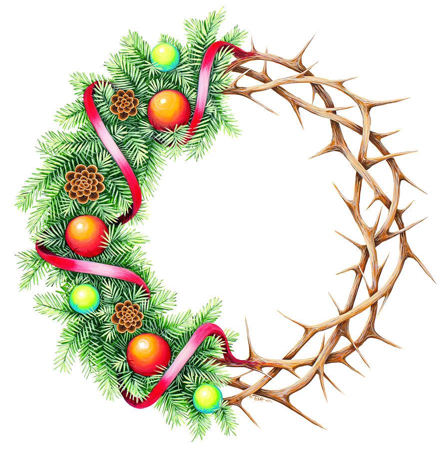 Christmas wreath by Tish Wynne