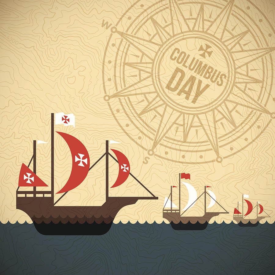 Christopher Columbus Day Drawing by Filo