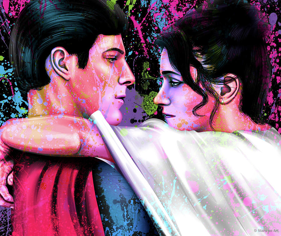 Christopher Reeve And Margot Kidder In Superman Painting