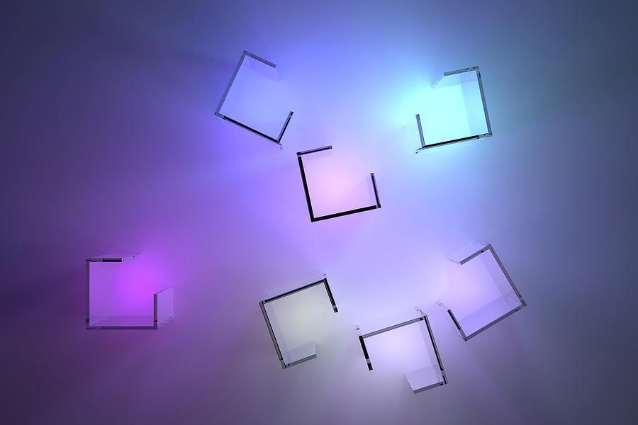 Chromatic Cubes 2 Digital Art
