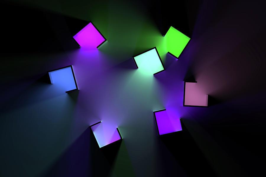 Chromatic Cubes 3 Digital Art