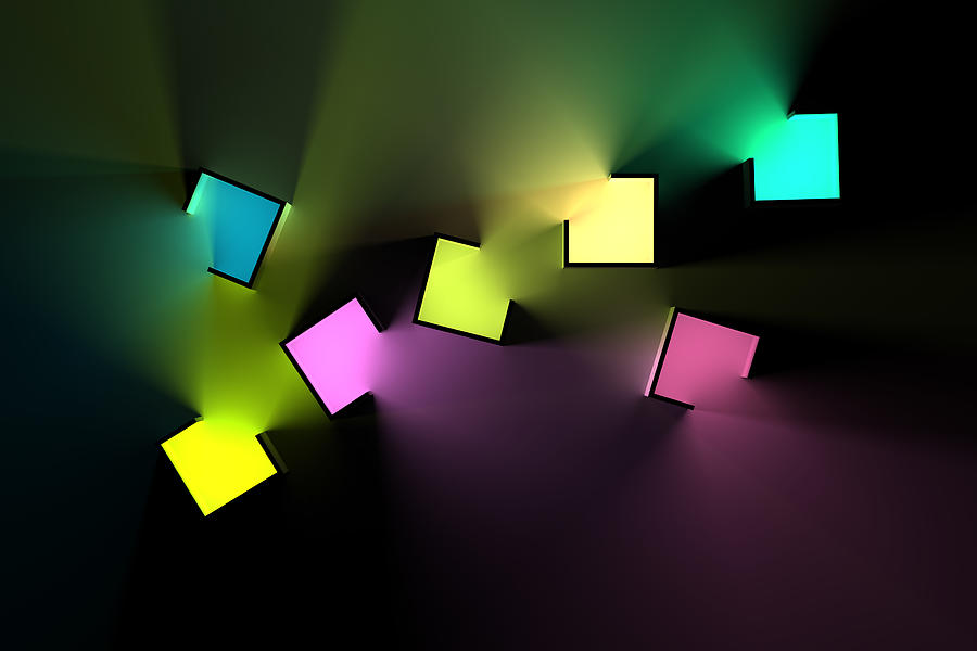 Chromatic Cubes 4 Digital Art