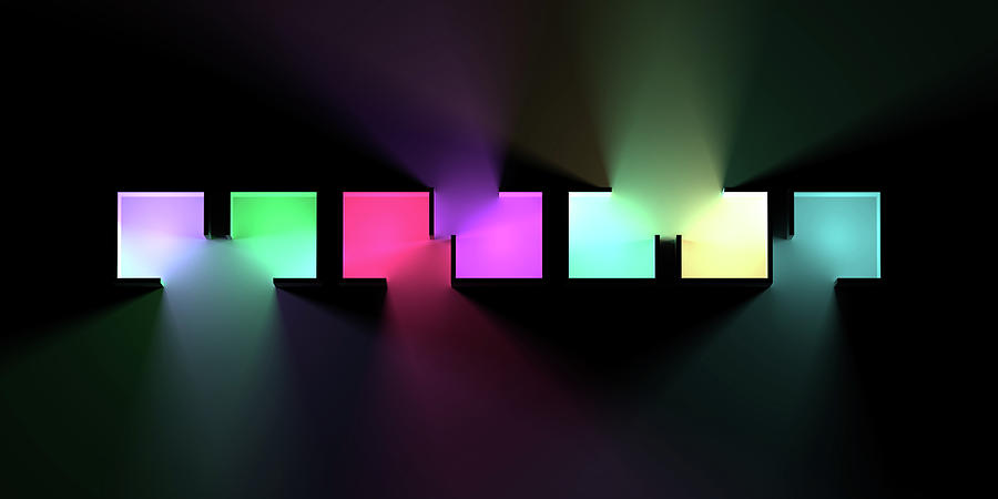 Chromatic Cubes 6 Digital Art