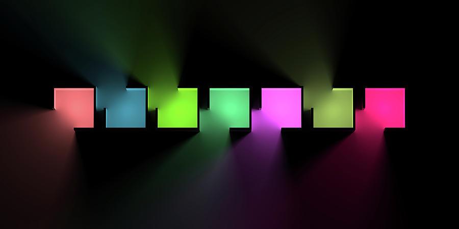Chromatic Cubes 7 Digital Art