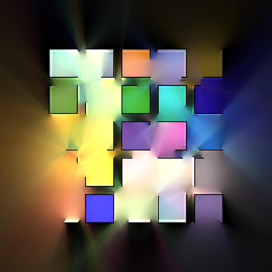 Chromatic Cubes 8 Digital Art