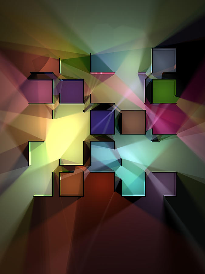 Chromatic Cubes 9 Digital Art