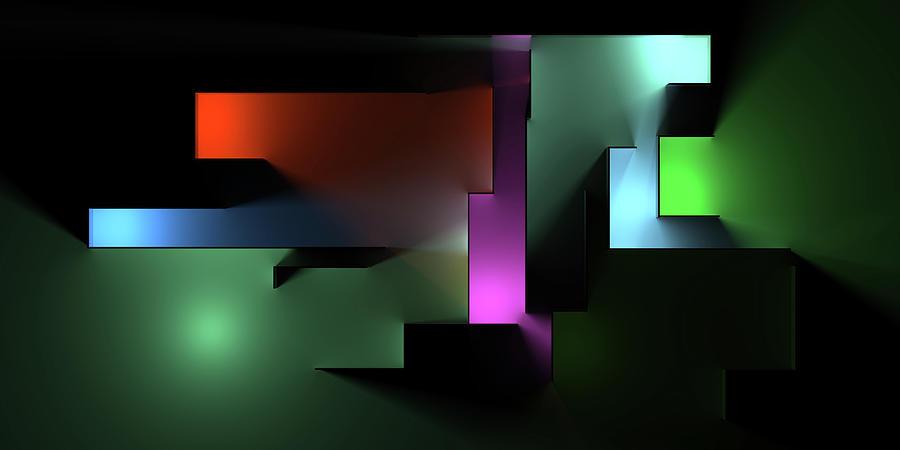 Chromatic Geometry 10 Digital Art