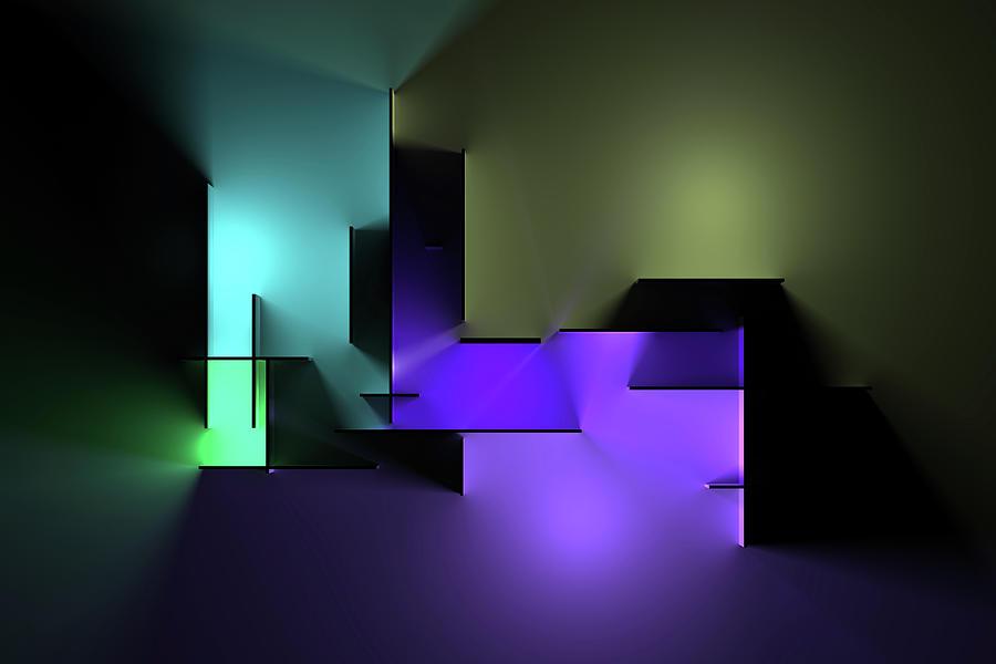 Chromatic Geometry 2 Digital Art