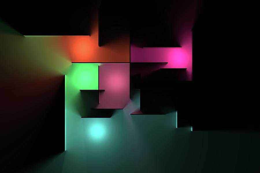 Chromatic Geometry 3 Digital Art
