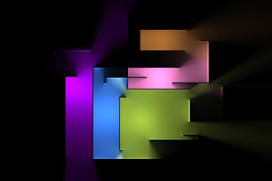 Chromatic Geometry 4 Digital Art