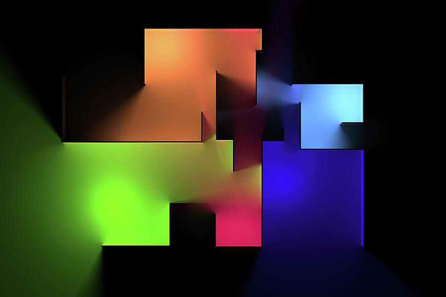 Chromatic Geometry 6 Digital Art