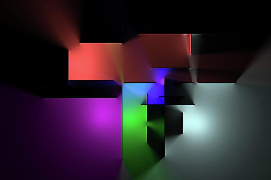Chromatic Geometry 7 Digital Art