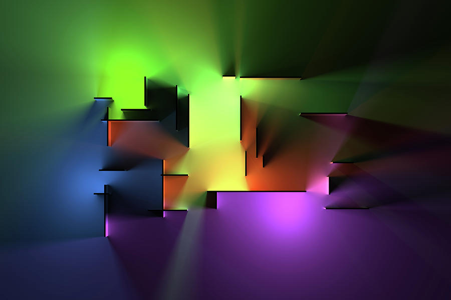 Chromatic Geometry 8 Digital Art