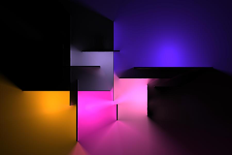 Chromatic Geometry 9 Digital Art