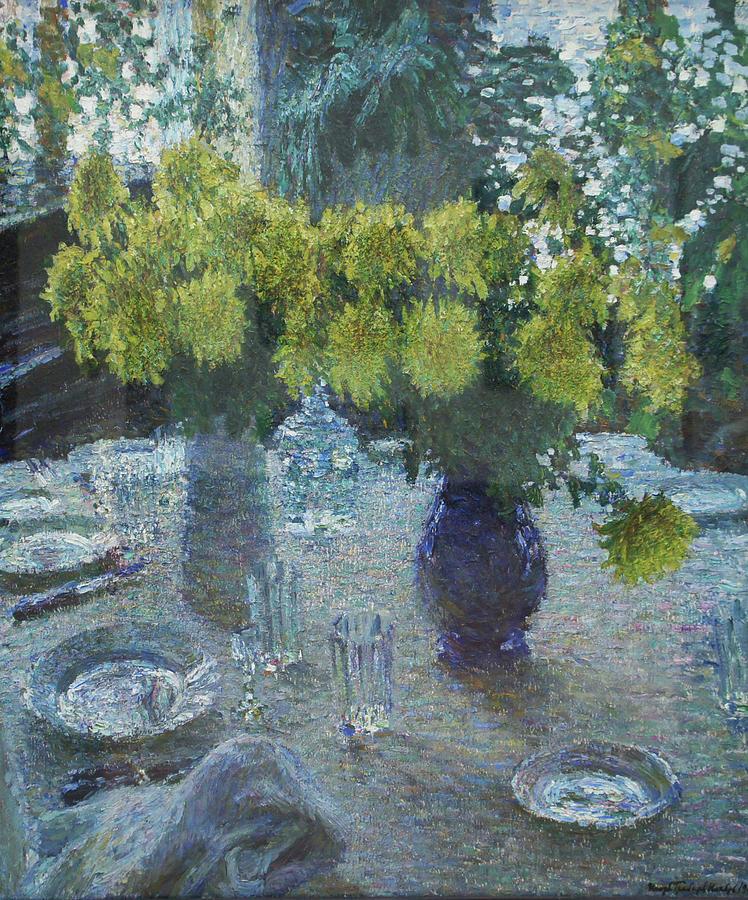 Russian Impressionism Painting - Chrysanthemums by Igor Grabar