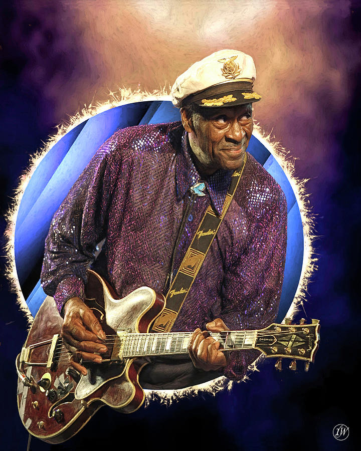 Chuck Berry - Circle Series by Rick Wiles