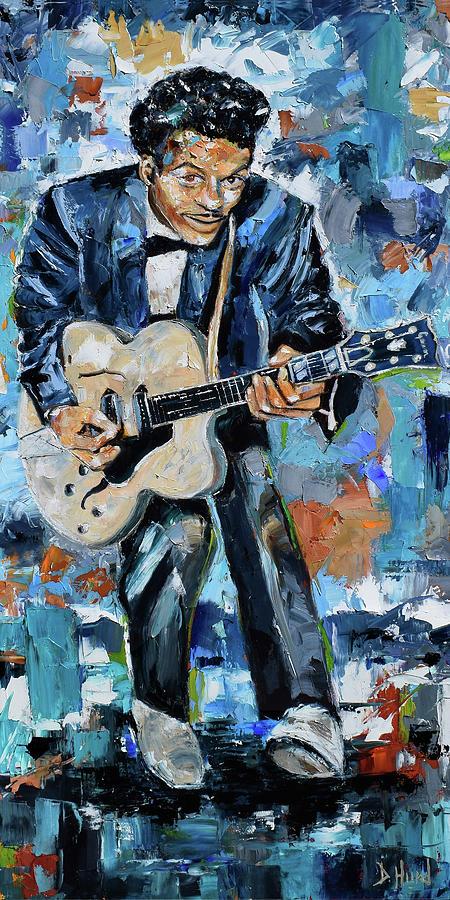 Chuck Painting - Chuck Berry by Debra Hurd