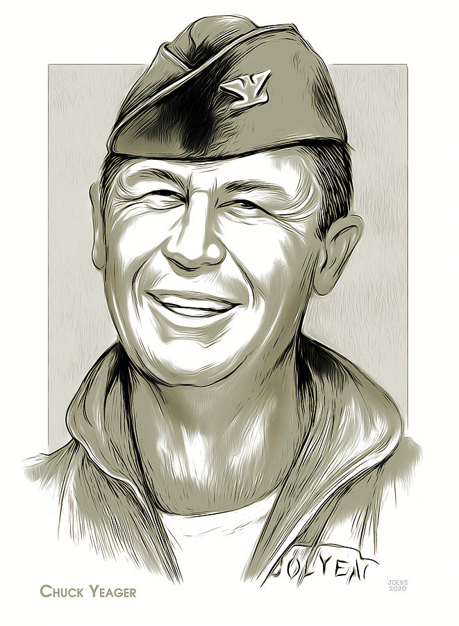 Chuck Yeager Drawing