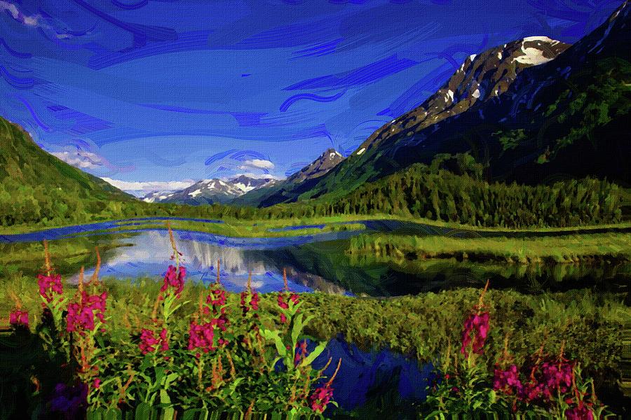 Chugach National Forest Alaska - Painting By Ahmet Asar Digital Art