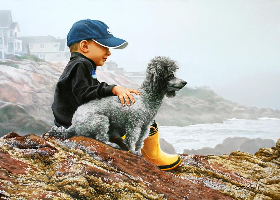 Children Painting - Chums by Tom Sierak