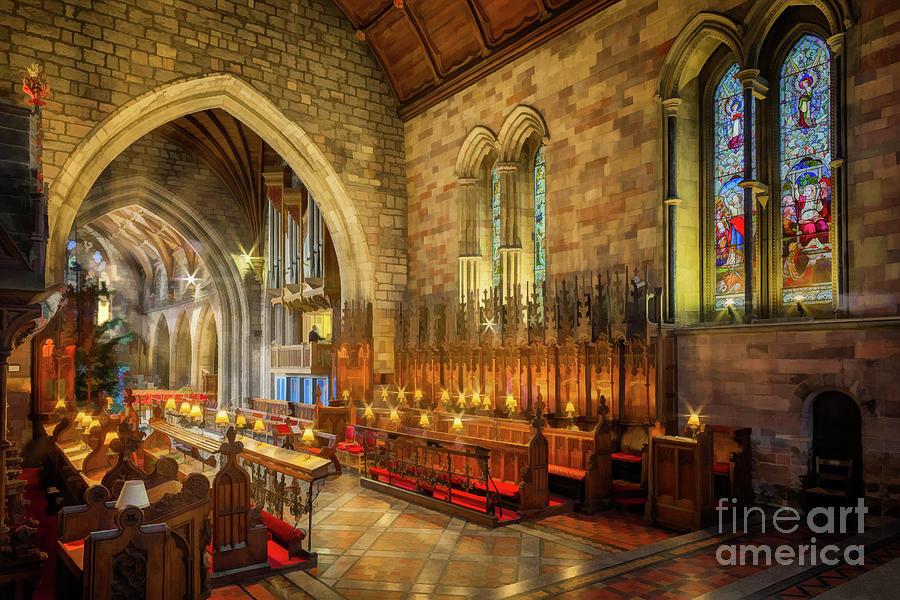 Church Christmas Lights by Adrian Evans