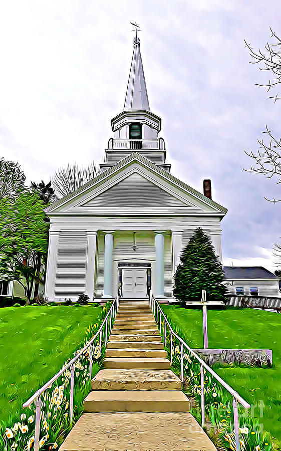 Church in Orland Maine by Tracy Ruckman