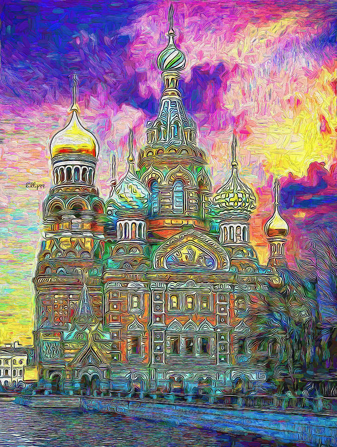 Church In St. Petersburg 3 Painting