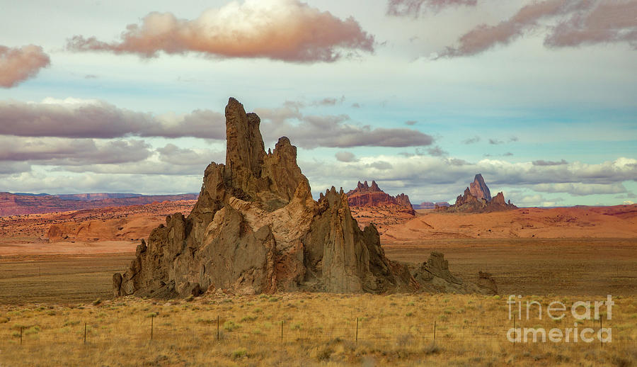 Church Rock with Agathia Peak in the Background by Dustin K Ryan