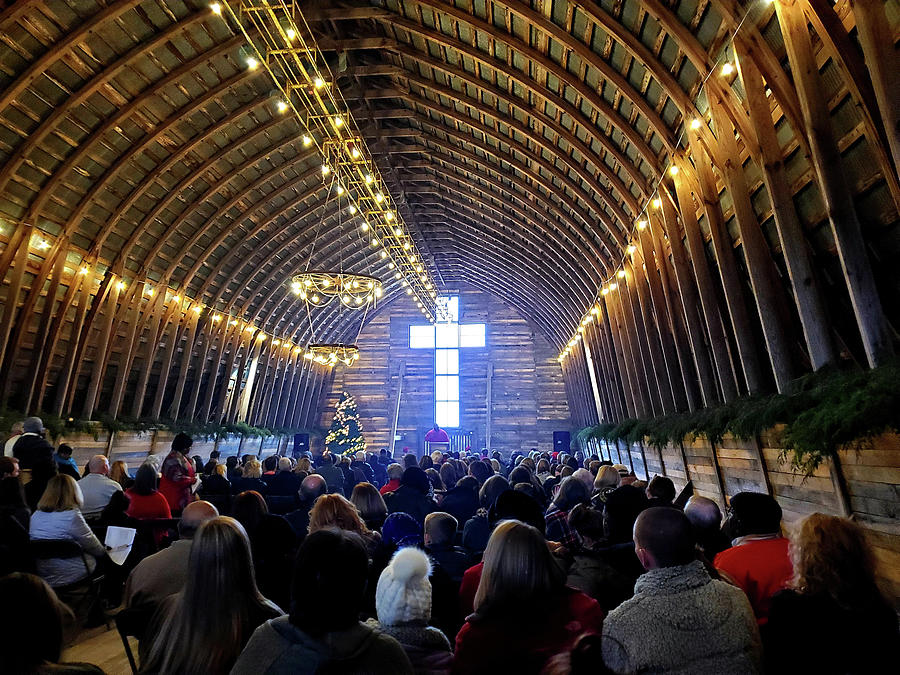 Church Service at the Barn by Nadine Lewis