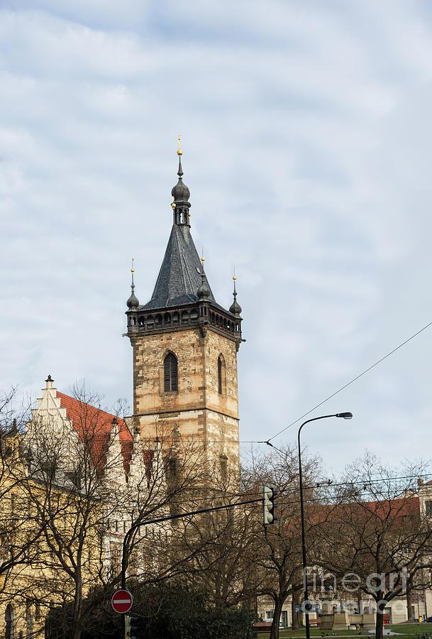 Church Tower at Charles Square Prague,Europe by Bridget Mejer