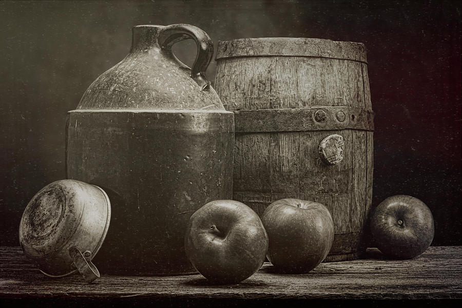 Aged Photograph - Cider Apples Still Life by Tom Mc Nemar