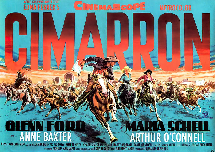 cimarron, With Glenn Ford And Maria Schell, 1960 Mixed Media